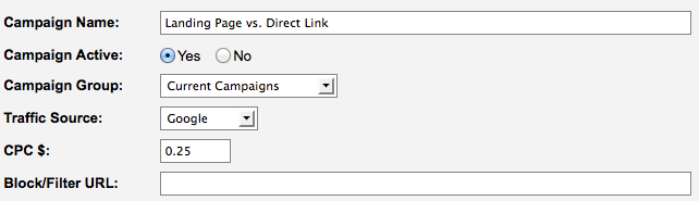 Direct Link vs. Landing Page