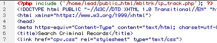Trafficvance Tracking Code