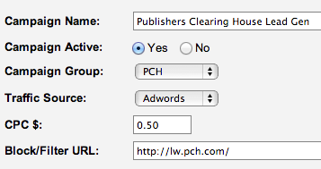 PCH Adwords