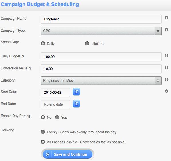 TapIt Campaign Setup