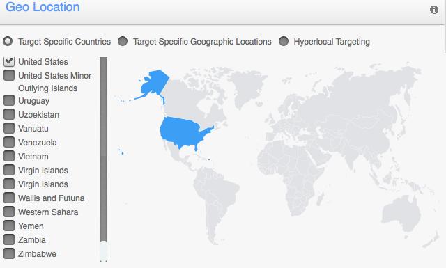 TapIt Campaign Setup Geo Targeting